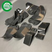 三菱 管理機 の耕うん爪 12本組セットです。 日本ブレード製の正逆ナタ爪(木の葉型の爪)です。四角...