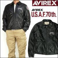 AVIREX U.S.A.F 70th 記念モデル!  しなやかな羊革を使用すことで、軽い着心地を実...