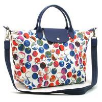 ロンシャンの定番トートバッグに色彩鮮やかな水玉模様のグラフィックプリントをあしらった、「ル・プリアー...