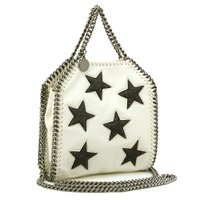 ぷっくりとした星型のパッチがあしらわれた、ステラマッカートニーのトートバッグ。開口部は開閉しやすいマ...