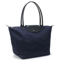 ジャカード織りキャンバスに星を織り込んだ「ル・プリアージュ エトワール」のトートバッグ。エナメルレザ...