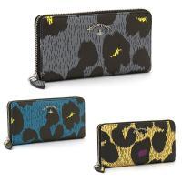 レオパード柄のプリントが目を惹く、ヴィヴィアン「アングロマニア」の長財布です。マチ付きの札入れやファ...