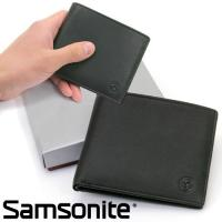 【期間限定プライス】サムソナイト 二つ折り財布 【B2B 252:ブラック】◇