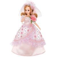 女の子が大好きなドール♪やさしいお花のプリントがかわいらしい、憧れのロングドレスを着たリカちゃんです...