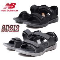 ニューバランス 低反発 スポーツ サンダル SD212 メンズ 軽量 クールビズ ブラック グレー ...