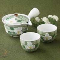 使いやすい食器 お茶急須 ティーポット の中が洗いやすい。 緑彩山茶花お茶急須 ティーポット 茶器 ...