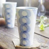 仁峰窯の青の空シリーズです。  三角の口径がとっても飲みやすい