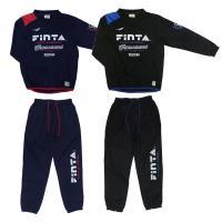 FINTAのジュニア用ジップアップタイプのジャージセット。身長130cm〜160cmまで幅広く対応し...