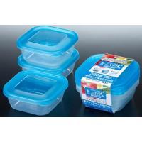 【SCB※】【O】 ナカヤ ホームパック C K292-3 ブルー (380ml×3P) 冷凍保存、電子レンジ可