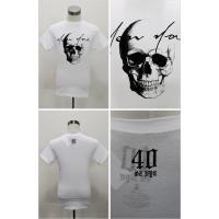 40oz NYC フォーティーオンス NY SCRIPT SKULL Tシャツ