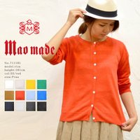ブランド:mao made(マオメイド) 素材:Linen 100% サイズFREE:身幅47.5c...