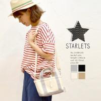 STARLETS 【SS】コットンキャンバス星プリントショルダーバッグ スターレッツ【2017春夏】【DM便不可】S1601SS