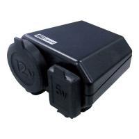 ●シガーソケット&USB端子が同時に使えるタイプ!  ●バイク専用安全設計!  ●過電流防止...
