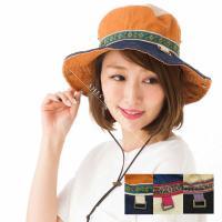 帽子 登山 ハット サファリハット 大きいサイズ レディース ハット UV 2WAY帽子 フェス UVカット (CR4112)