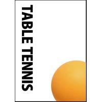 サイズ:B5  ページ数:64ページ センターミシン綴じノート 卓球練習用ノート 練習内容や反省点を...