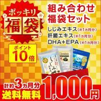 サプリ サプリメント 1000円ぽっきり福袋 しじみエキス 肝臓エキス DHA+EPA 各約1ヶ月分  ダイエット、健康グッズ