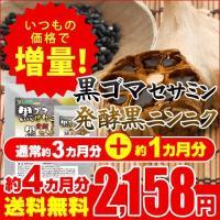 サプリ サプリメント セサミン 黒ゴマセサミン&発酵黒ニンニク 約4ヵ月分 サプリ サプリメント ダイエット、健康グッズ