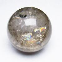 虹入りライトニング水晶丸玉76mm
