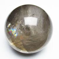 虹入りライトニング水晶丸玉77mm