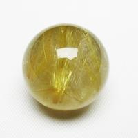 ゴールドタイチンルチル入り水晶丸玉18mm