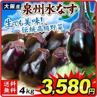 大阪産 泉州水なす (4kg) 15~25玉 ご家庭用 水なす 野菜 国華園