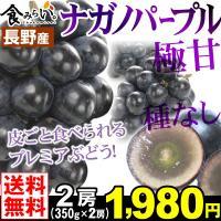 商品情報     長野県限定で生産される「ナガノパープル」は、糖度が非常に高く、種無しで皮ごと食べら...
