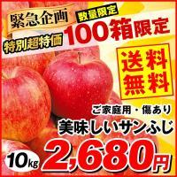 りんご 「数量限定」サンふじ 10kg 青森県産 キズあり美味しいサンふじ ご家庭用 訳あり 林檎 ふじりんご さんふじ 現在出荷中 果物
