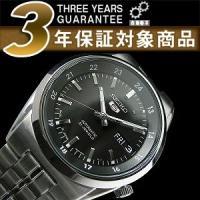 日本製逆輸入SEIKO5 セイコー5 セイコーファイブ 自動巻き メンズ腕時計ブラック SNK567...