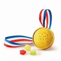 キッズへのプレゼントに・良い子の金メダル キャンディー5粒入りです。 今日のキミは1等賞! 喜んでく...