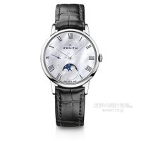 儚げなローマン数字インデックスが印象的な時計、 エリート・ウルトラシン・レディ・ムーンフェイズ。かつ...