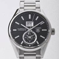 GMTタイプの機能性の高いカレラグランド!時計の中に時計がもう一つあるようなおしゃれなデザインです。...