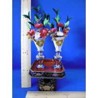 雛まつり☆木製お道具☆三宝 9 (横幅80~105cm位の飾り台でお殿様とお姫様の間に飾ります)☆最も一般的なおひなさまの前飾りです