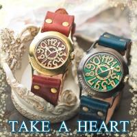 ペアウォッチ TAKE A HEART(テイク ア ハート)は、 特徴ある大きめのフェイスが男性には...