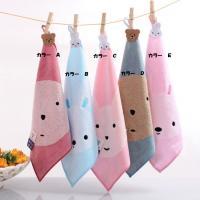 ・とってもかわいいクマとウサギのタオル全5色から選べます。  触り心地のよい、厚手の綿で出来ています...