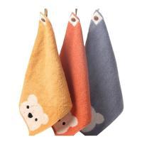 幼稚園 保育園で大活躍のループ付きハンドタオル。  厚手地にとってもかわいいクマ柄の3色セット。  ...