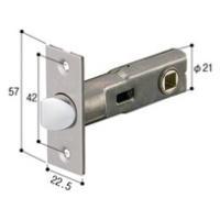ドアノブ ゲートレバー用取替ラッチ バックセット60ミリ 交換 修理 エクステリア ドア 扉 板戸 ドアノブ交換