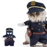 ハロウィン コスチューム ペット ポリスマン コスチューム 子猫用 X0013RYXOJ-S n60909 cs0822 pe0822