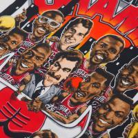 NBA ブルズ 1992年 ファイナル 2連覇記念 カリカチュアTシャツ Salem ホワイト レアアイテム