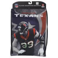 NFL テキサンズ J.J.・ワット プレイヤー プリント ナップサック/バックパック/リュック メンズ レアアイテム