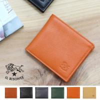 男女共に人気の高い、イルビゾンテの2つ折り財布です。  シンプルなデザインですが、カード入れ、小銭入...