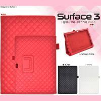 Microsoft Surface 3 ケース キルティングレザーケース カバー サーフェス マイク...