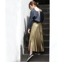 【カテゴリ】レディース > スカート > ロング・マキシ丈スカ… 【カラー】91ゴールド...