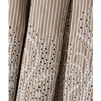 INGEBORG / インゲボルグ ストライプフラワー刺繍スカート