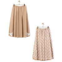 BEARDSLEY / ビアズリー 裾レースリバーシブルスカート
