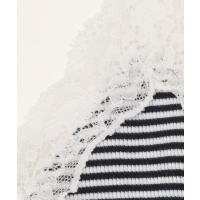 L size ONWARD(大きいサイズ) / エルサイズオンワード 【洗える】リブレース キャミソール
