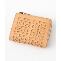 genten / ゲンテン genten ゲンテン カットワーク 二つ折り財布