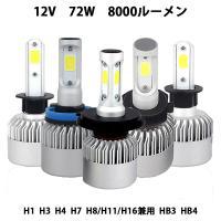 LEDヘッドライト  H4 H1 H3 HB3 HB4 H7 H8/H11/H16 12V専用 COBチップ搭載 35W 6500K 8000LM 2本セット