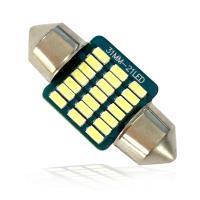 特売セール LEDバルブ T10 31mm 12連COBチップ高輝度LED ホワイト/ブルー 1個売り
