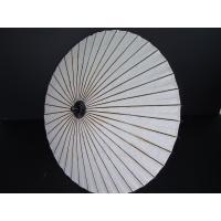 かなり大きめの舞踊傘です。舞踊傘 尺七寸 無地白 骨数 40本 開いた直径 約90cm 長さ 約86...