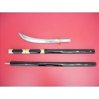舞台用の薙刀です。 3つの部品に分かれます。 重さ約1100g。 全長 約193cm。 刃の部分はア...